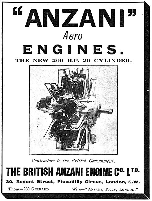 The New British Anzani 200 HP Aero Engine