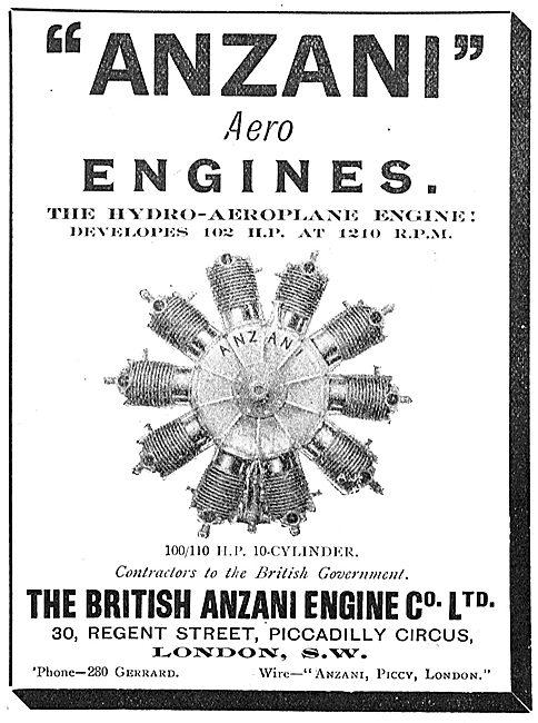 The Anzani 102 HP Hydro-Aeroplane Engine