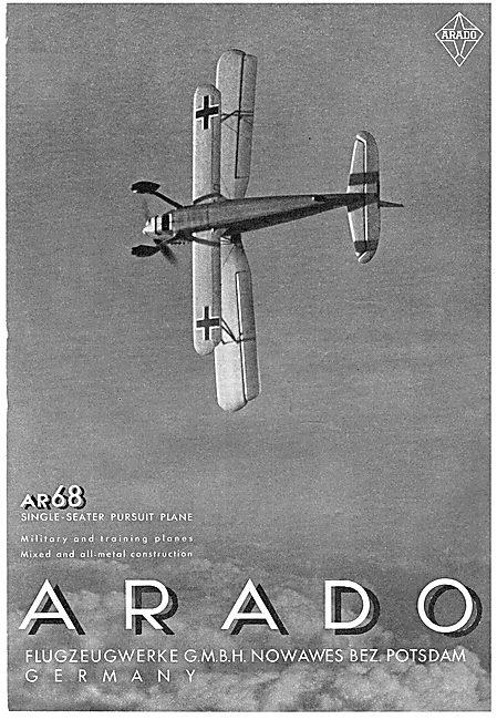 Arado AR68 Single Seat Pursuit Aircraft