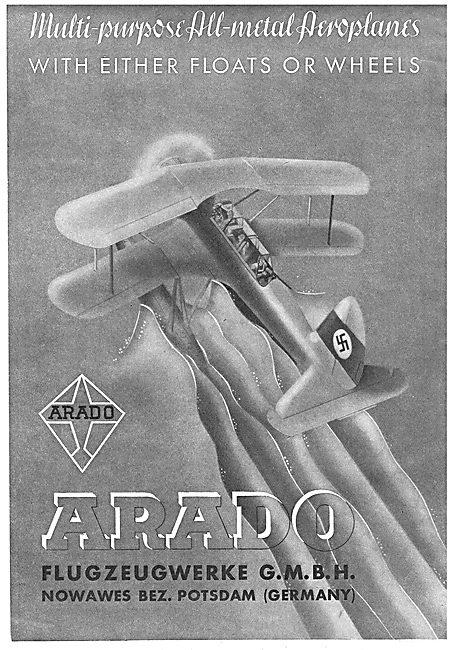 Arado Multi-Purpose All-Metal Aircraft. Floats Or Wheels.