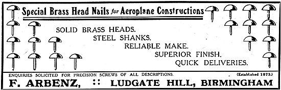 A. Arbenz - Brass Nails Aeroplane Constructors