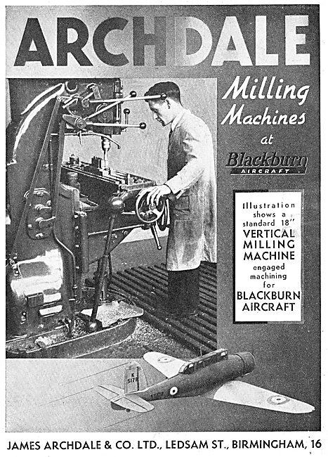 Archdale Machine Tools At Blackburn
