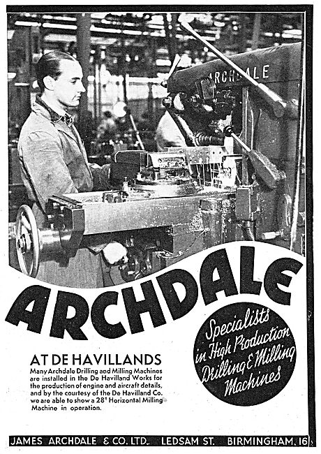 Archdale Machine Tools At De Havilland