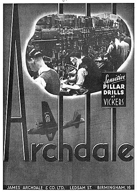 Archdale Machine Tools At Vickers