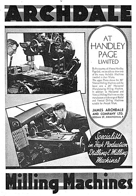 Archdale Machine Tools At Rolls-Royce Handley Page
