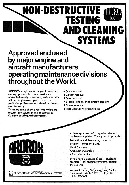Ardrox NDT Non Destructive Testing  & Cleaning Systems