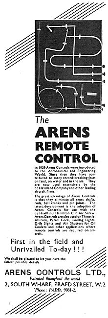Arens Remote Controls For Aircraft : De Havilland
