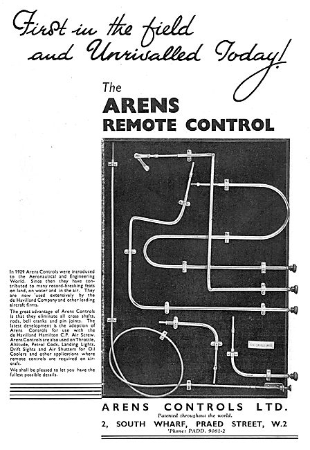 Arens Aircraft Remote Controls