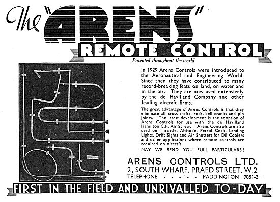 Arens Remote Controls For Aircraft