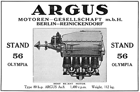 Argus As.8  80 HP Aero Engine 1929