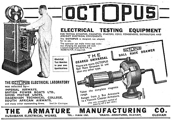 Armature Manufacturing Co :  Octopus Electrical Testing Equipment