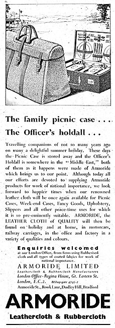 Armoride Rubber & Leathercloth Manufacturers 1943 Advert