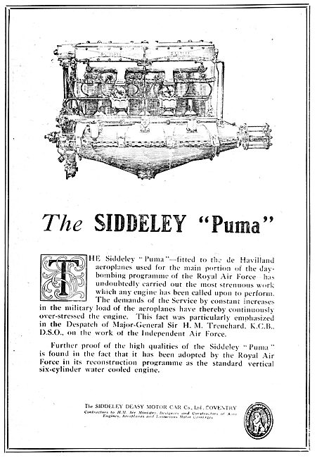 Siddeley-Deasy  Aero Engines. Siddeley Puma