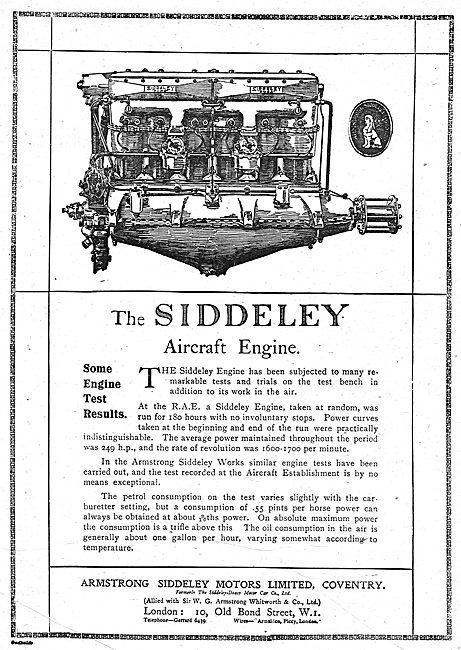 Armstrong Siddeley  Aero Engine: The Siddeley Aircraft Engine