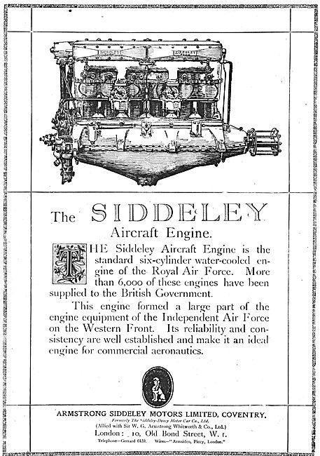 Armstrong Siddeley  6 Cylinder Aero Engine