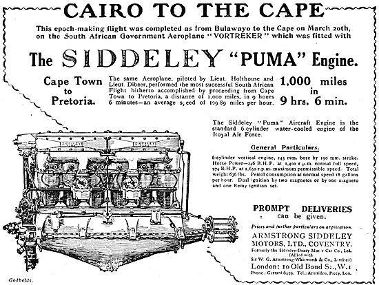 Armstrong Siddeley  Puma Aero Engine 1920