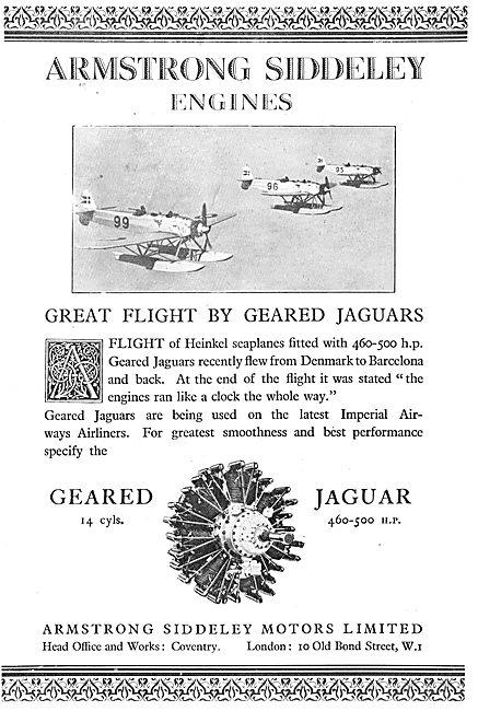 A Great Flight By  Heinkels - Armstrong Siddeley  Geared Jaguars