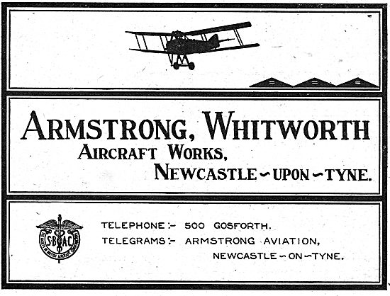 Armstrong Whitworth Aircraft Works Newcastle-Upon-Tyne