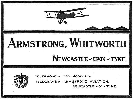 Armstrong Whitworth Aircraft 1918