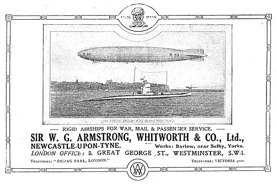 Armstrong Whitworth Rigid Airships For Mail & Passenger Services