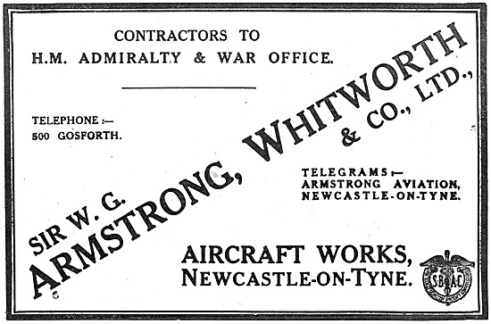 Armstrong Whitworth Aircraft 1917