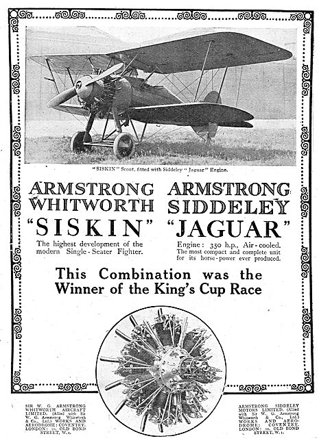Armstrong Whitworth Siskin Scout. Siddeley Jaguar Engines