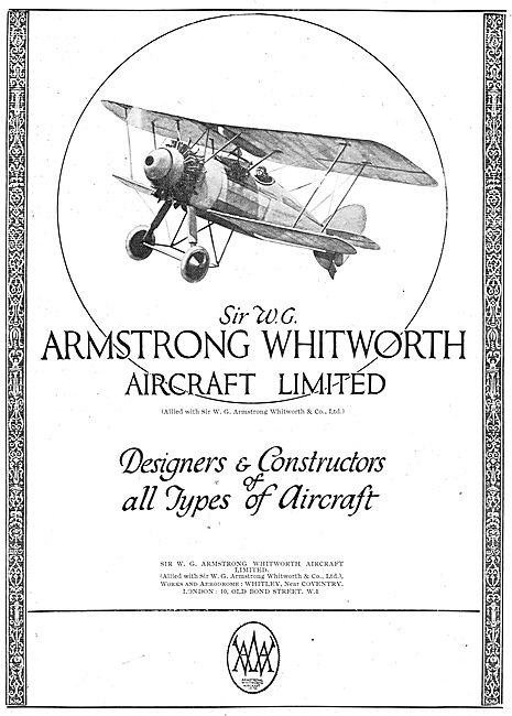 Armstrong Whitworth - Designers & Constructors Of Aircraft