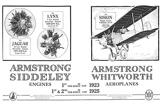 Armstrong Whitworth Siskin Single Seat Fighting Scout Aircraft