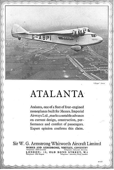 Armstrong Whitworth Atalanta G-ABPI