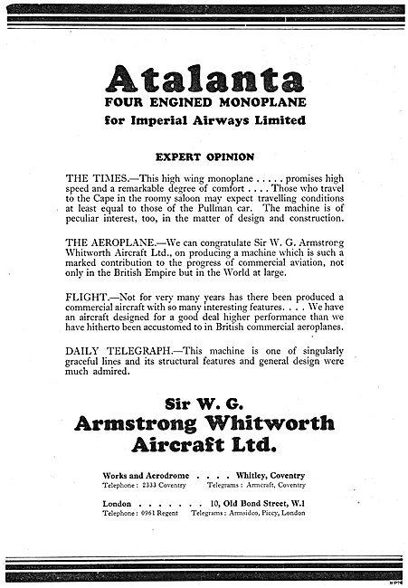 Armstrong Whitworth Atalanta