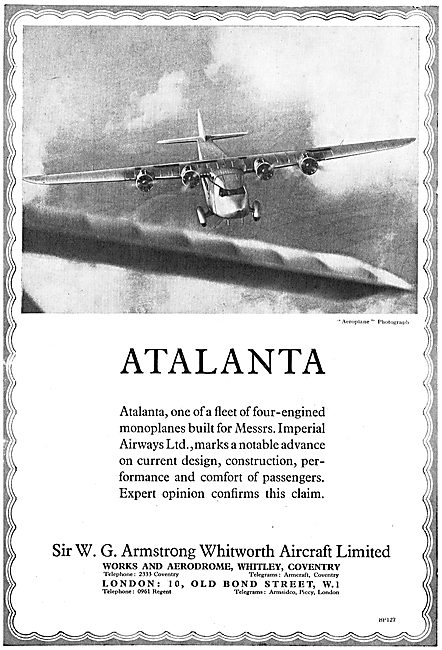 Atalanta Four Engined Monoplane