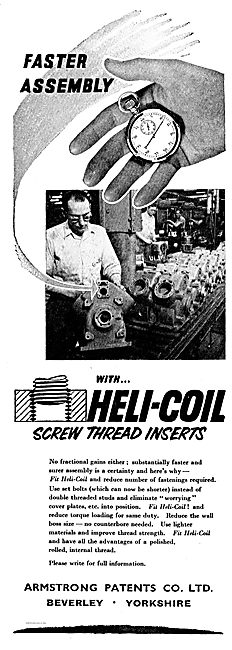 Armstrong Patents Helicoil Screw Thread Inserts