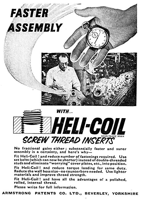 Armstrong Patents Heli-Coil Screw Thread Inserts