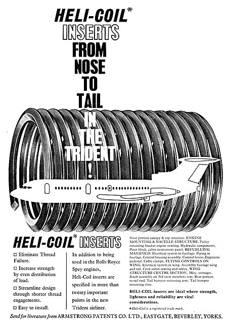 Armstrong Patents. Heli-Coil Thread Inserts