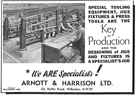 Arnott & Harrison - Aeronautical Engineers, Jig  Manufacturers