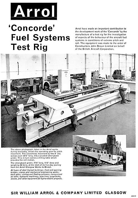 William Arrol Concorde Fuel Systems Test Rig 1967