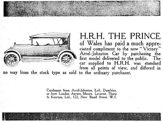 Arrol-Johnston VIctory Motor Car 1919 Advert