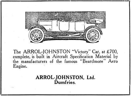 Arrol-Johnston Victory Motor Car 1919