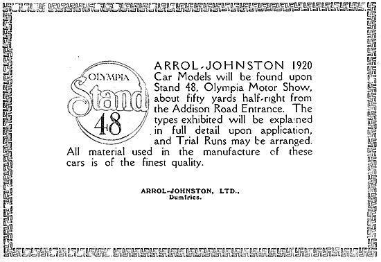 Arrol-Johnston Motor Cars.