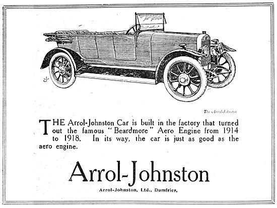Arrol Johnston Motor Cars. 1920