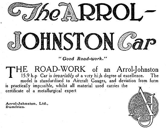 Arrol Johnston 15.9 H.P. Motor Car. 1920