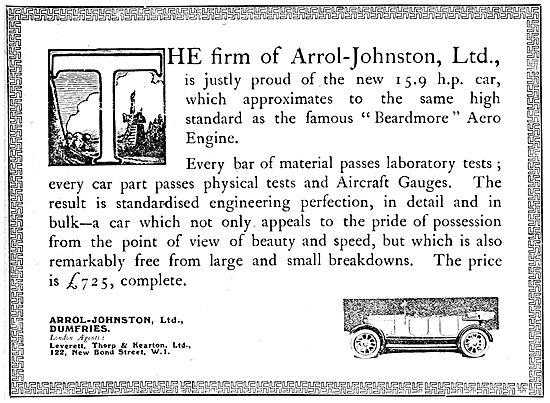 Arrol Johnston Motor Cars.1920