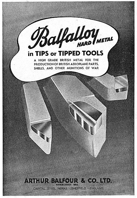 Arthur Balfour. Sheffield.  Machine Tools
