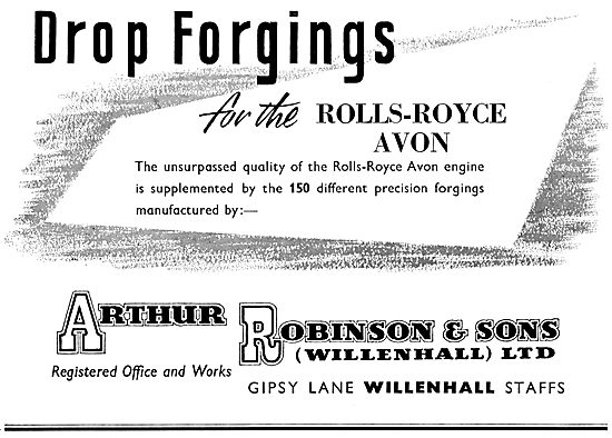 Arthur Robinson. Gipsy Lane Willenhall. Drop Forgings