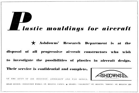 Ashdowns Ltd. Eccleston Works St Helens.