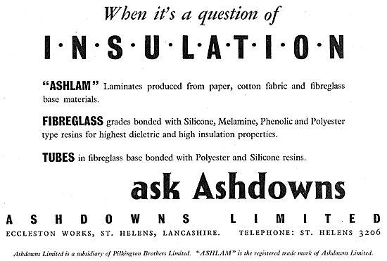 Ashdowns Ltd. Eccleston Works St Helens. Insulation. Ashlam