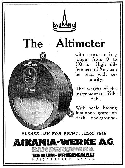 Askania Altimeter 1929