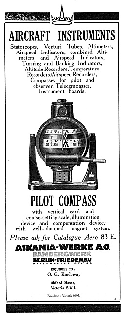 Askania Flight Instruments - Askania Pilot Compass