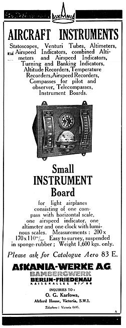 Askania Flight Instruments -  - Askania Instrument Board