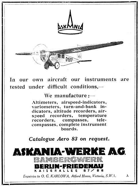 Askania Aircraft Instruments